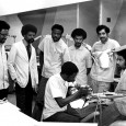 This is another of our favorite photos here in the University Archives. Dental School in the 1970s looks like a pretty groovy place.