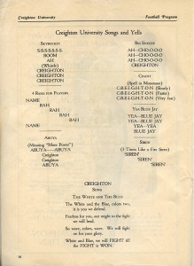 1928 Homecoming Program Cheers
