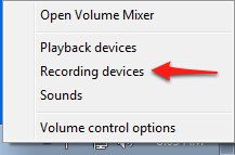 Set the default microphone and adjust the input volume in