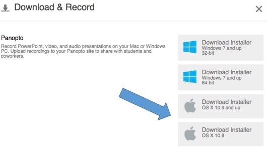 Downloading and Installing the new Panopto Recorder for Mac « BlueCast