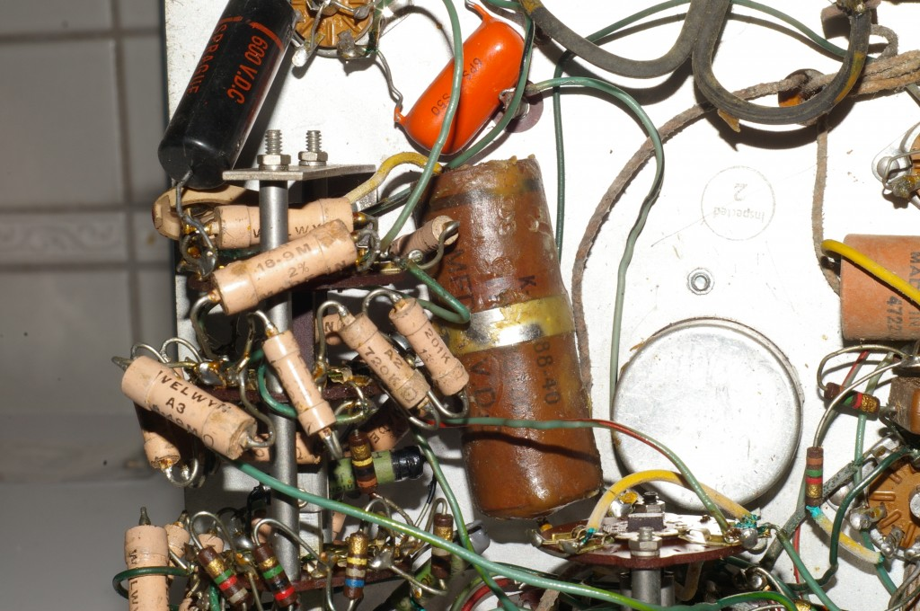 RCA WV-87A Master VoltOhmyst circuitry closeup #3