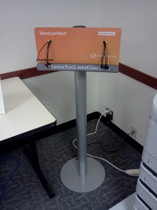 Charging station in the Skinner Computer Room